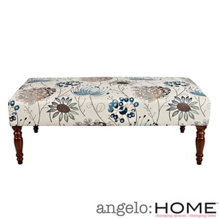 angelo:HOME Brighton Hill Spring Parisian Blue Flower Cocktail Ottoman