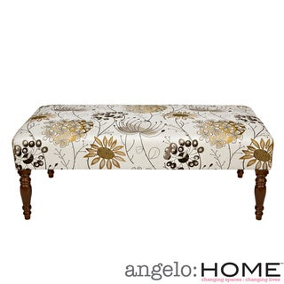 angelo:HOME Brighton Hill Spring Parisian Red Flower Cocktail Ottoman
