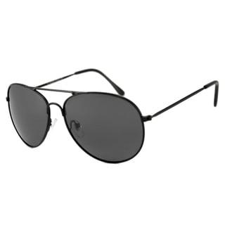 Alta Vision Men's/ Unisex Aviator II Black/Polarized Grey Sunglasses