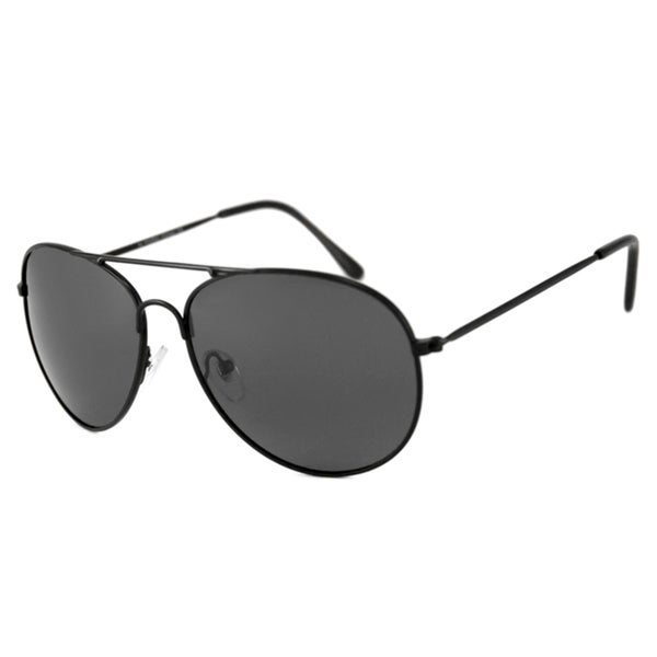 Alta Vision Men's/ Unisex Aviator II Black/Polarized Grey Sunglasses