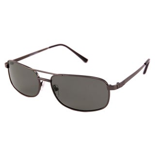Alta Vision Men's Zuma Gunmetal/Polarized Grey Aviator Sunglasses