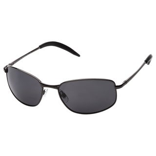 Alta Vision Men's/ Unisex Santa Cruz Gunmetal/Polarized Grey Rectangular Sunglasses