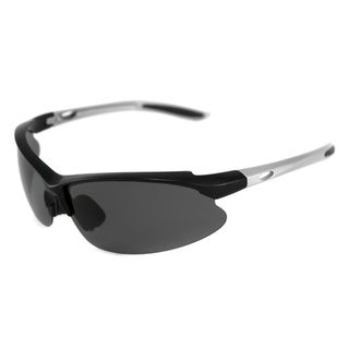 Alta Vision Men's/ Unisex Surf Side Silver/Polarized Grey Wrap Sunglasses