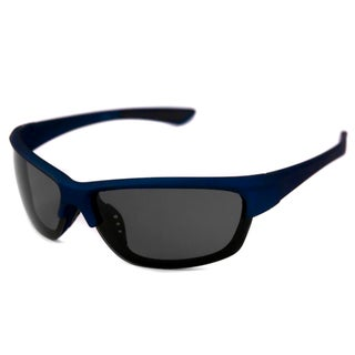 Alta Vision Men's/ Unisex Malibu Blue/Polarized Grey Wrap Sunglasses