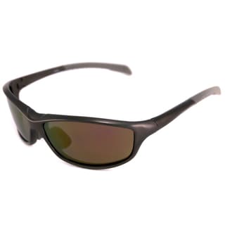 Alta Vision Men's/ Unisex La Jolla Gunmetal/Polarized Grey Wrap Sunglasses