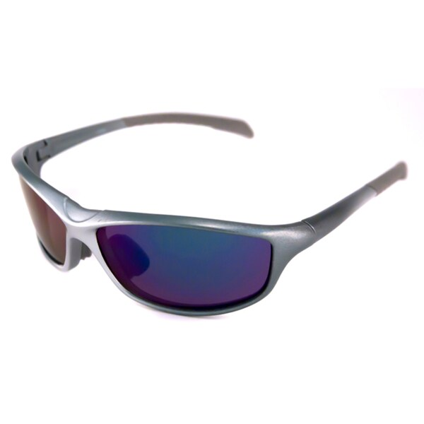Alta Vision Men's/ Unisex La Jolla Grey/Polarized Grey Wrap Sunglasses