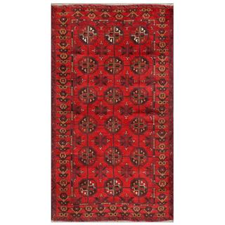 Afghan Hand-knotted Tribal Balouchi Red/ Light Brown Wool Rug (3'5 x 6'0)