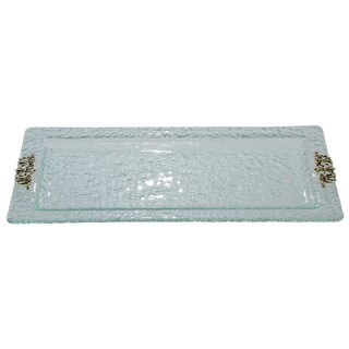 Glass and Scroll Rectangular Tray