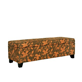 Portfolio Blane Orange and Brown Storage Ottoman