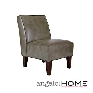 angelo:HOME Dover Renu Leather Gray Bark Armless Chair