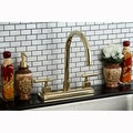 Polished Brass Two-handle Kitchen Faucet