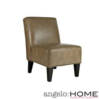 angelo:HOME Dover Husk Olive Brown Renu Leather Armless Chair