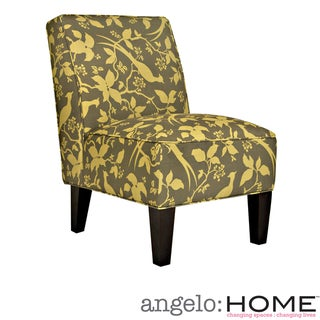 angelo:HOME Dover Modern Bird Branch Bamboo Green Armless Chair