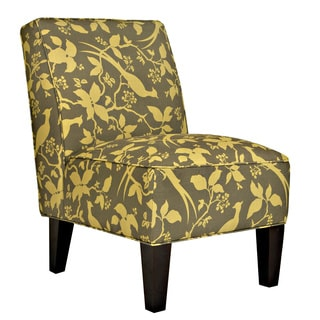 Portfolio Madigan Green Bird Branch Armless Chair