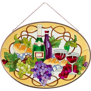 Joan Baker Bread & Wine Glass Art Panel