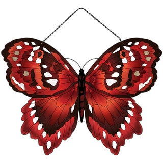 Joan Baker Red Butterfly Suncatcher