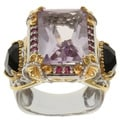 Michael Valitutti Two-tone Rose de France, Black Onyx and Pink Sapphire Ring