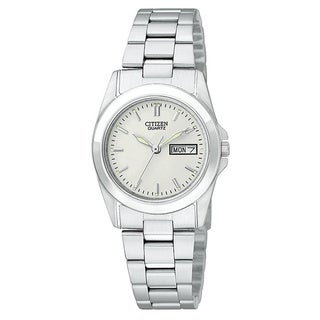 Citizen Women's Stainless Steel White Dial Watch