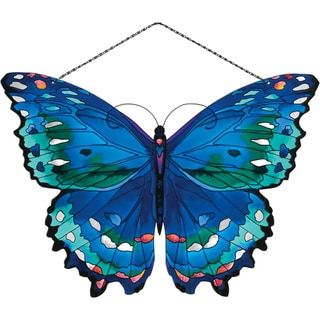 Joan Baker Blue Butterfly Suncatcher