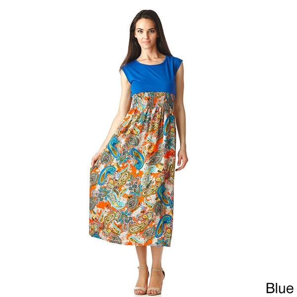 Stanzino Women's Two Tone Empire Cut Maxi Dress