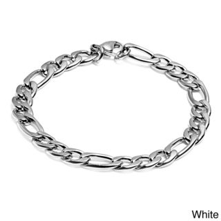 Crucible Men's Stainless Steel Figaro Chain Bracelet