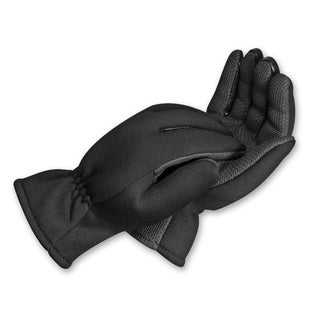 South Bend Black Neoprene Fishing Gloves with Fleece Lining