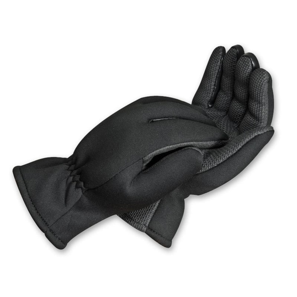 South Bend Black Neoprene Fishing Gloves with Fleece Lining