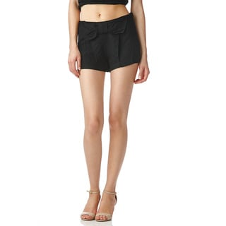 Stanzino Juniors Black Bow Mini Shorts