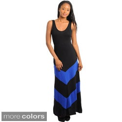 Stanzino Women's Colorblock Sleeveless Scoop Neck Maxi Dress