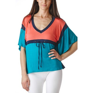 Stanzino Women's Dolman Sleeve Geometric Top
