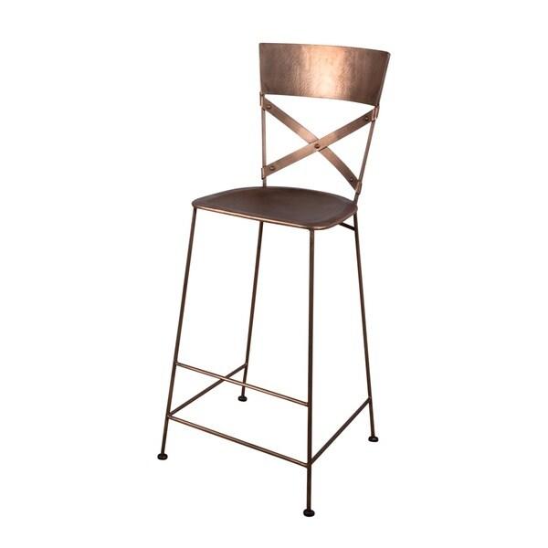 X Back Copper Bar Stool 15576169 Overstock Com
