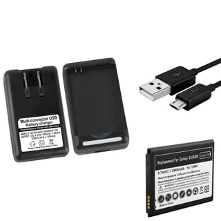 INSTEN Desktop Charger/ Micro-USB Cable/ Battery for Samsung Galaxy S3