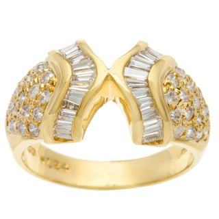 Kabella Luxe 18k Yellow Gold Vintage 1 1/8ct TDW Diamond Ring (G-H, SI1-SI2)