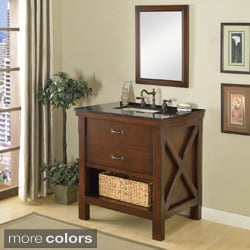 Direct Vanity 32-inch Espresso Spa Single Vanity Sink Cabinet
