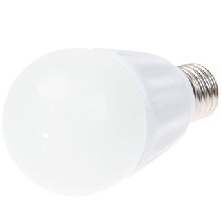 E27 7W AC 85-260V White LED Light Bulb