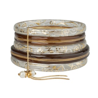 Lalo Treasures Set of 5 Goldtone L'Estate IV Bangles (Bulgaria)