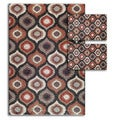 Aqueous Multicolored 3-piece Rug Set