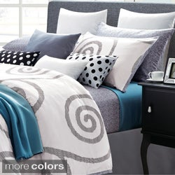 EverRouge Serenty Cotton Swirl 7-piece Duvet Set