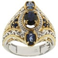 Michael Valitutti Two-tone Blue Sapphire Ring