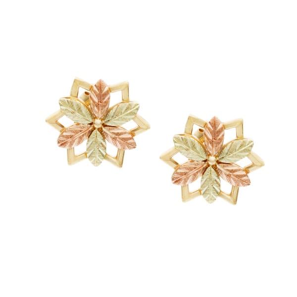 Black Hills Gold Stud Earrings