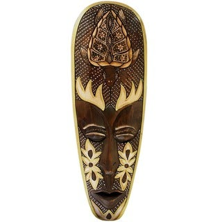 Hand-Carved Lombok Turtle Mask, Handmade in Indonesia