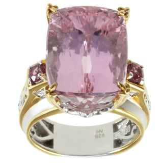 Michael Valitutti Two-tone Kunzite and Pink Tourmaline Ring
