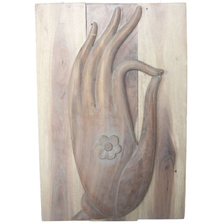 Agate Grey Oil Mudra Hand Panels , Handmade in Thailand
