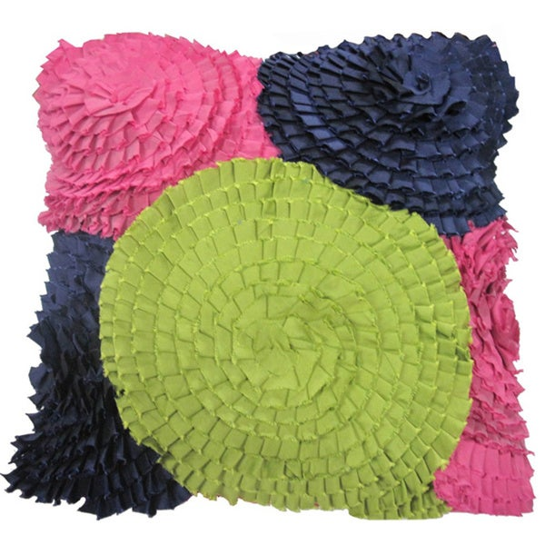 Garden Ruffles Decorative Pillow (India)