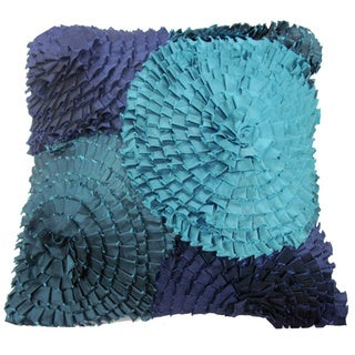 Oceanic Ruffles Decorative Throw Pillow (India)