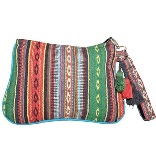 Cotton Knit Color Boom Clutch (Nepal)