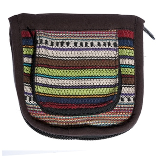 Multicolor Stripe Cotton Knit Wallet (Nepal)