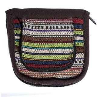 Multicolor Stripe Cotton Knit Wallet (Nepal)