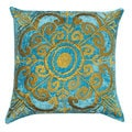 Zari Velvet Medallion Throw Pillow (India)