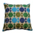 Phulkari Blue/Green Decorative Throw Pillow (India)